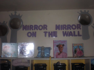 crafts mirror on the wall