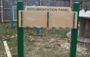 documentation panel in the yard