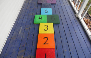 number blocks align vertically