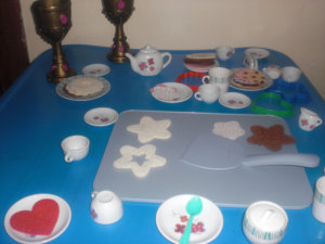 toys in a table