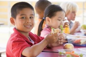 children having their meals